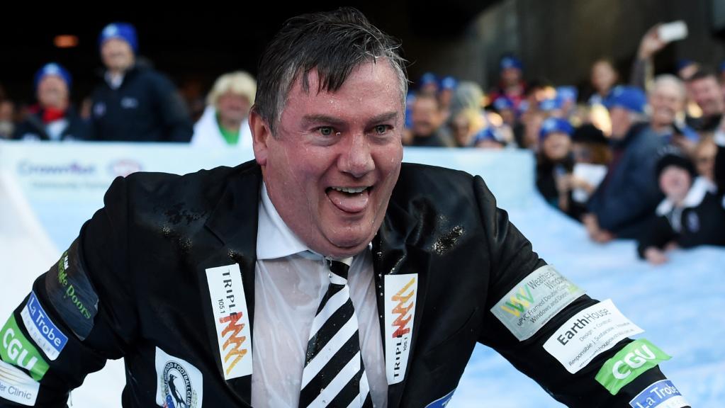Eddie McGuire wet and desperate